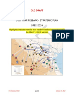 Comparison - VA Gulf War Research Strategic Plan as Revised by VA Staff - 05-31-2012