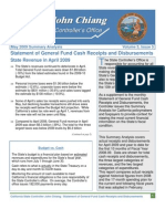 California State Controller's Statement of General FUnd Cash Receipts and Disbursemeents, April, 2009
