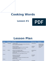 ESL Cooking Vocabulary Lesson