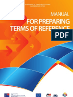 Manual for Preparing Terms of Reference