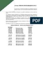 Criterios Juegos Bolivarianos 2013