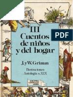 hermanos grimm - cuentos de niños y del hogar iii