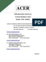 Manual Mc Vmc2240xl