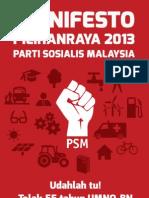 Manifesto PRU13 PSM (Bahasa Malaysia)