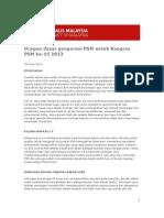 Ucapan Dasar Pengerusi PSM Untuk Kongres PSM Ke 15, 2013