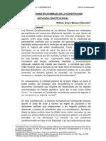 MODIFICACIONES NO FORMALES DE LA CONSTITUCIÓN