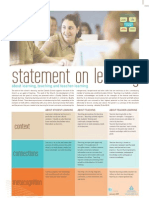 Statement on Learning Poster