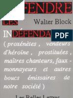 Block, Walter - Défendre les indéfendables