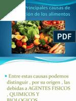 Principales causas de alteración de los alimentos UTZ RAMOS ROMAGNOLI