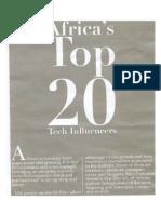 AFRICA'S TOP 20 TECH INFLUENCERS