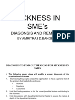 Diagnosis to Find Out Reason for Sickness in SME by Amritraj D Bangera