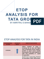 ETOP Analysis for TATA Group by Amritraj D Bangera