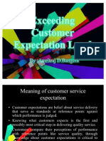 Exceeding Customer Expectation Level