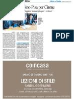 Accordo Urbino-Pisa per Cirene - Il Resto del Carlino del 29 giugno 2013