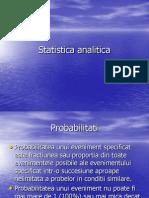 Statistica analitica