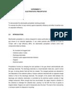 Experiment 4 - Electrostatic Precipitator