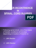 Bladder Incontinence in Spinal Cord Injuries