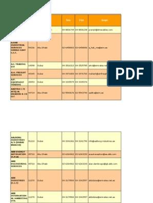 50527757 Copy of Uae Oil Gas Directory Contacts | Dubai | United