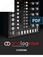 Analog Four Reference Manual OS1.00