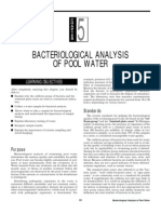 Bacteriological Analysis of Pool Water