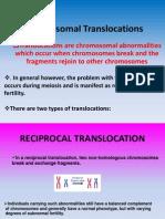 Chromosomal Translocations Power Point