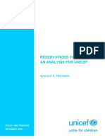 Reservations to CEDAW-An Analysis for UNICEF