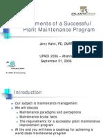 Elements of a Succesful Plant Maintenance Program_khan