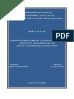 A ESTRUTURA DA DESPESA PÚBLICA E A EVOLUÇÃO DO SECTOR PÚBLICO ADMINISTRATIVO EM MOÇAMBIQUE [2005 – 2010] - Repensando o tamanho da Máquina Administrativa do Estado