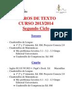 Libros de Texto Segundo Ciclo 13-14