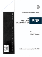 Limit Analysis And Limit Equilibrium analysis in Soil mechanics