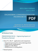 Engineering Considerations for Phosphorous Removal