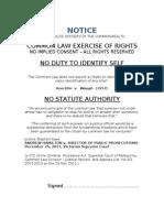 Notice to Commonweath Police