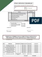 Contoh Anggaran Perbelanjaan peruntukan wang perkapita Prasekolah