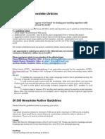 GI SIG Newsletter Guidelines