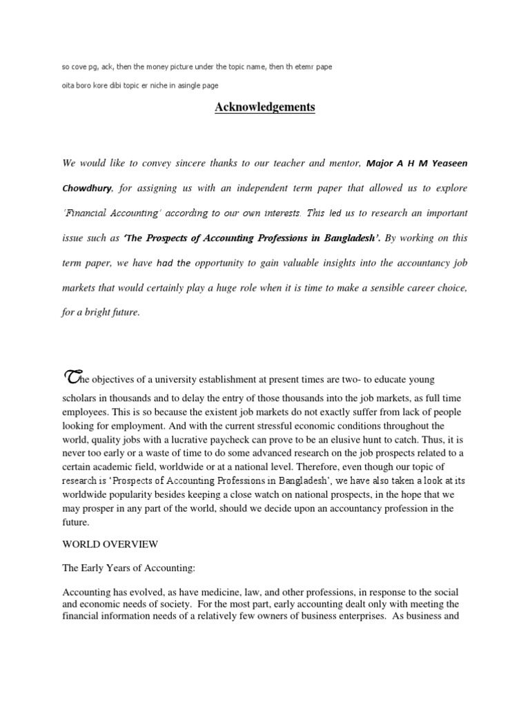 term paper for accounting
