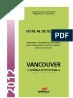 Manual Formatacao Vancouver