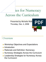 Strategies for Numeracy Across the Curriculum1