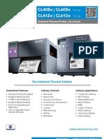 Sato CLe Series Industrial Thermal Printer Brochure