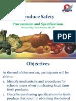 Produce Safety - Procurement