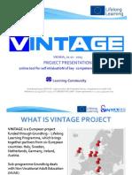 VINTAGE Project Presentation