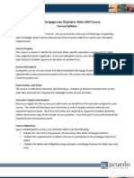 IDMO SAFE Mortgage Law Syllabus