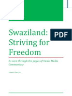 Swaziland Striving for Freedom Vol 6 June 2013