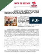 PP y PSOE ponen en peligro la Zona de Preferente Reindustrialización por presentar PNL sin consenso