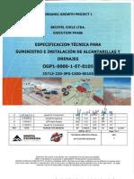 25713 220 3PS CE00 00105 Camaras Alcanarillado Especificacion Tecnica