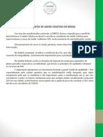 NOTA-Saúde Coletiva nas ruas-2013