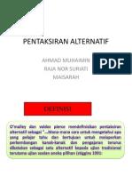PENTAKSIRAN ALTERNATIF