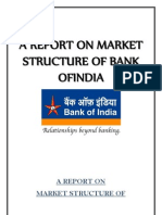 A Report on Market Structure of Bank Ofindia