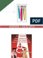 AGENDA – JULIO 2013