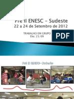 TRABALHO- Pré ERESC Sudeste - 2012