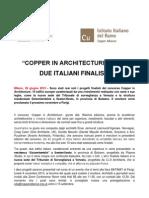 Copper in Architecture 2013- Finalisti